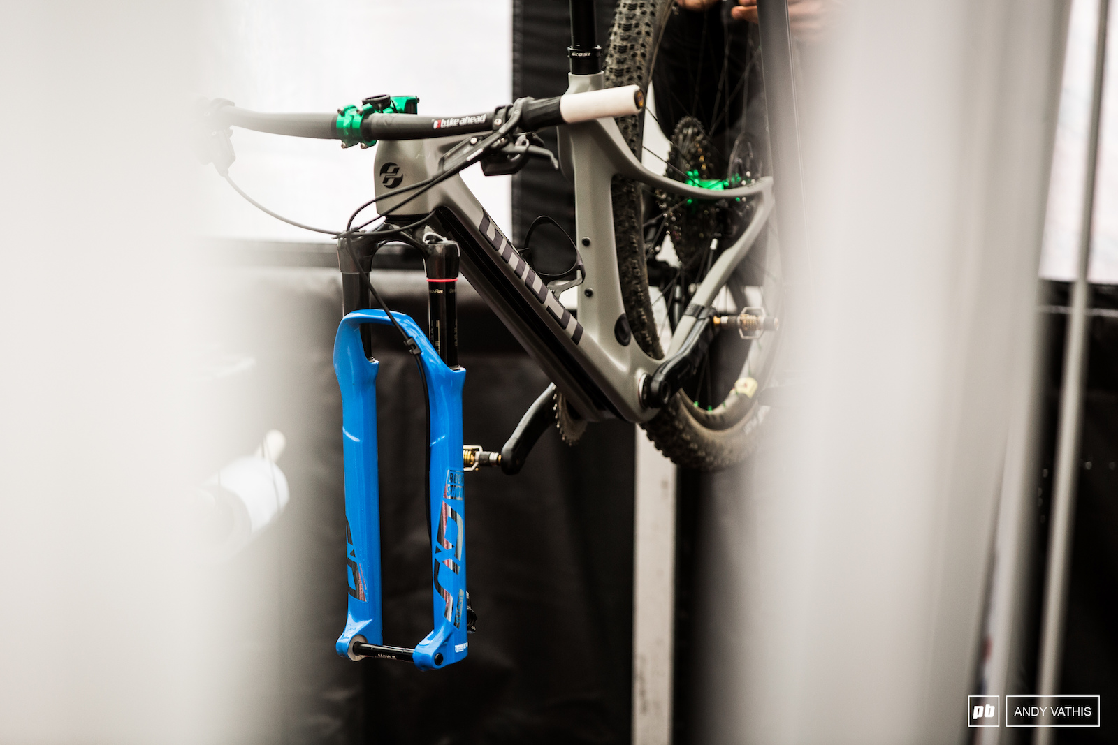 Ghost are almost ready to officially reveal their new hard tail XC race machine. Here we can see the downtube channel where the cables sit. It s all covered up by a plate that runs the length.