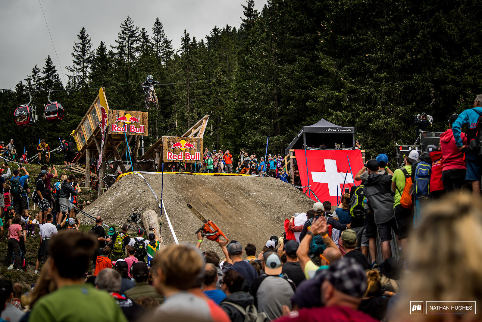 Loris Vergier once again had everything needed for the win here in Lenzerheide but this time slipped off the box by only 1.5 seconds leaving him in 8th.