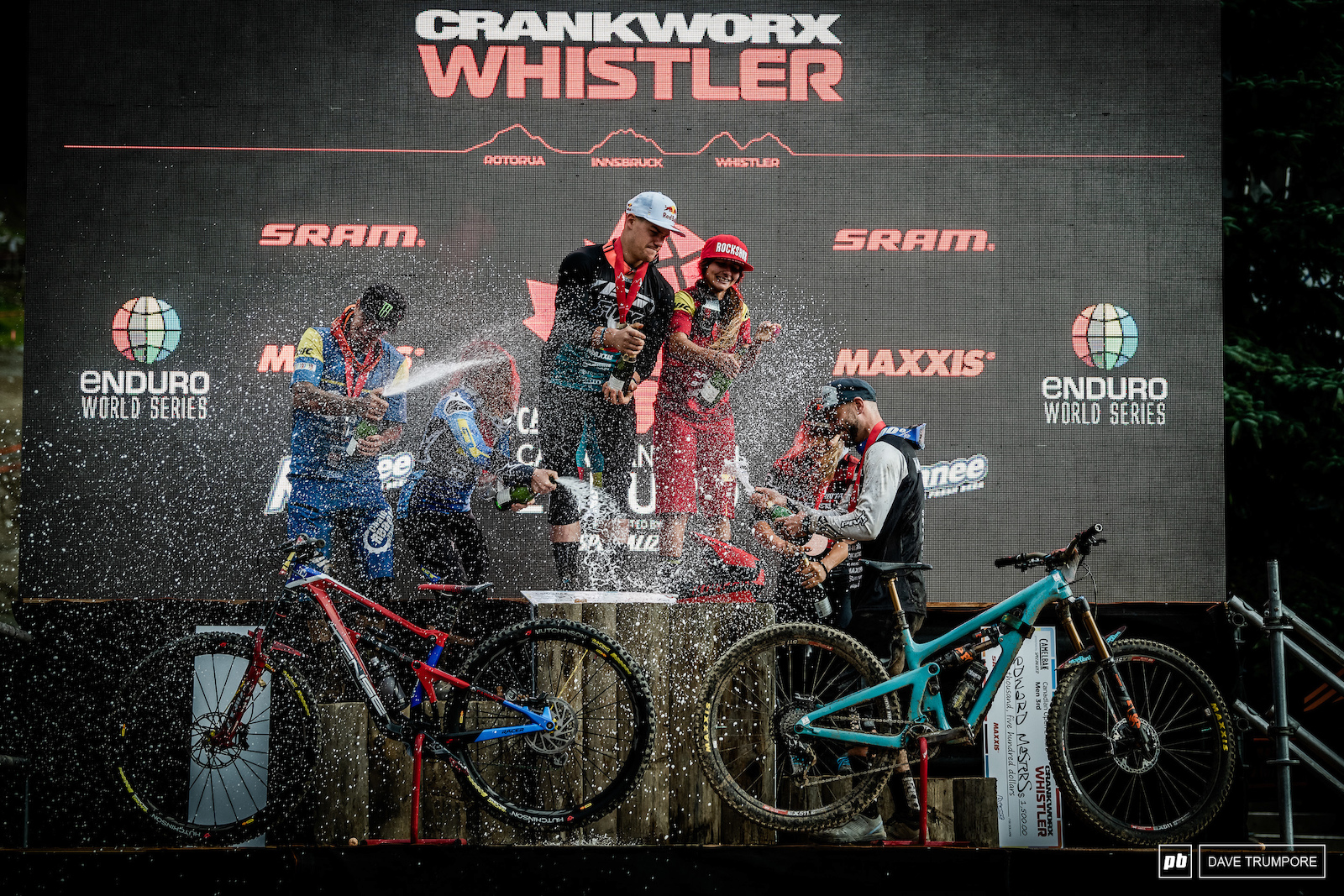 Richie Rude and Isabeau take top honors in whistler with Sam Hill and Noga Korem ion 2nd followed by Eddie Masters and Andreane Lanthier-Nadeau in 3rd