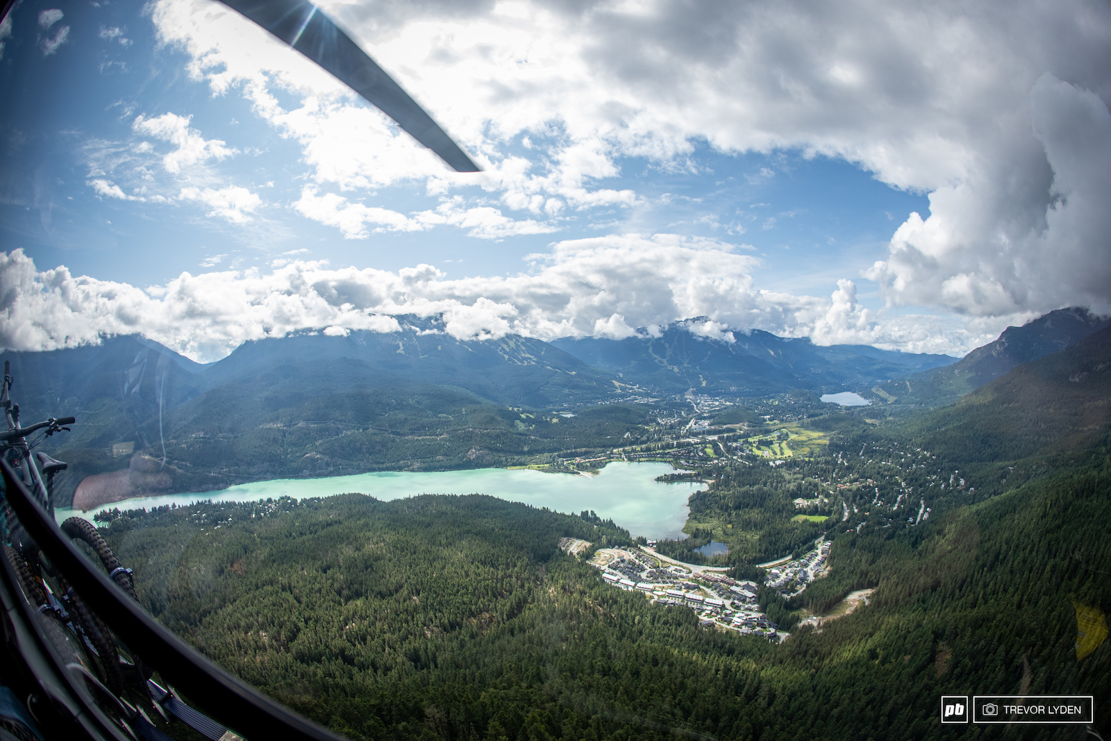 Midday over Whistler Valley.