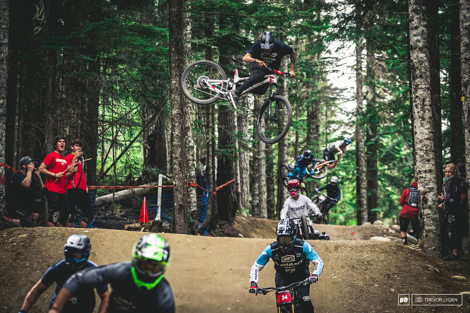 Thomas Lemoine with a big ol whip during the mega train.