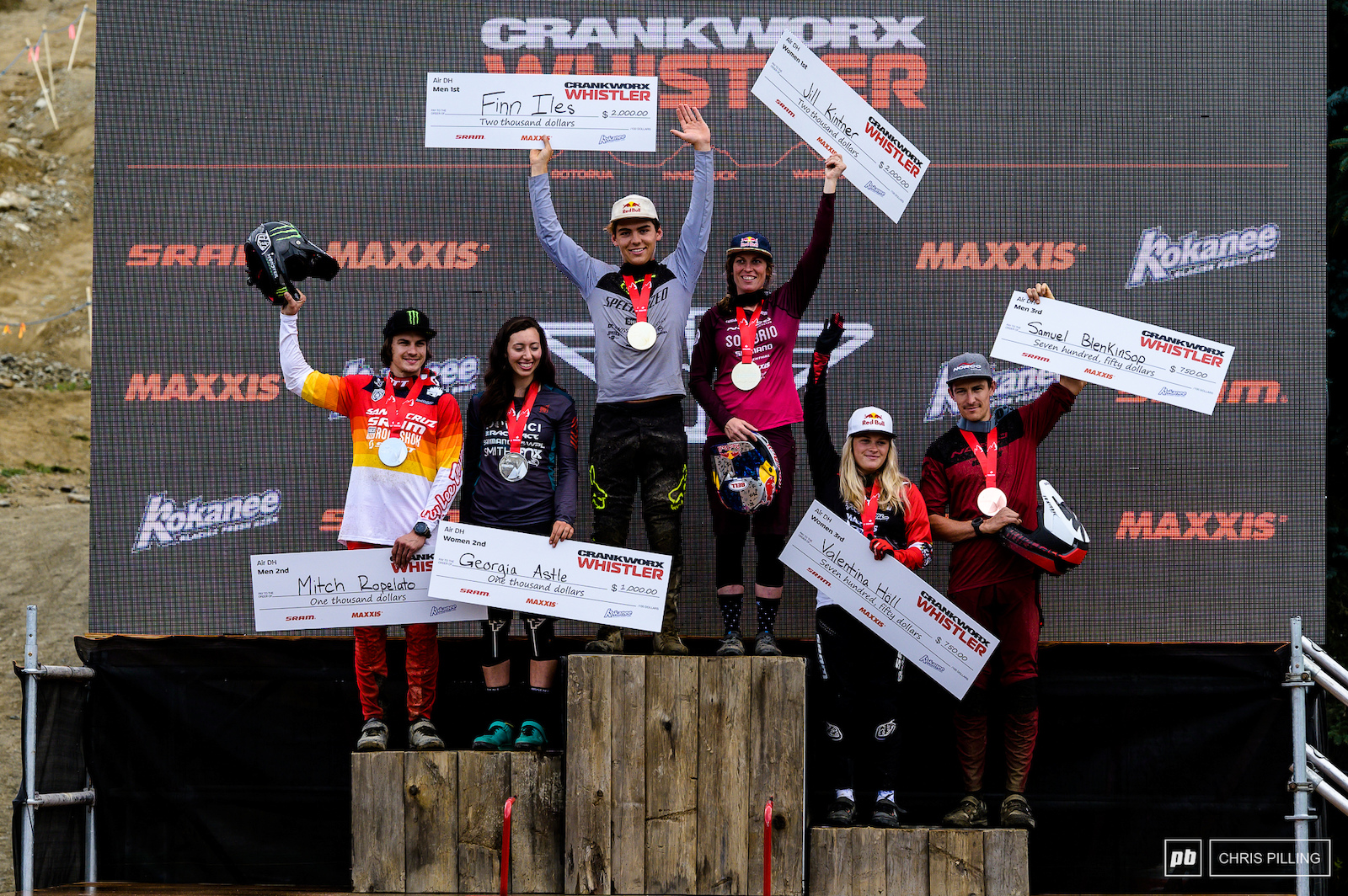Your Crankworx Air DH podium