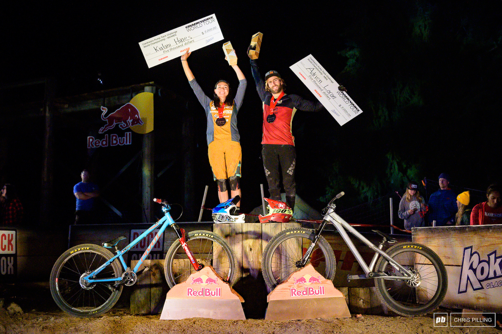 Loron and Hines crowned the Ultimate Pump Track Challenge World Champs.