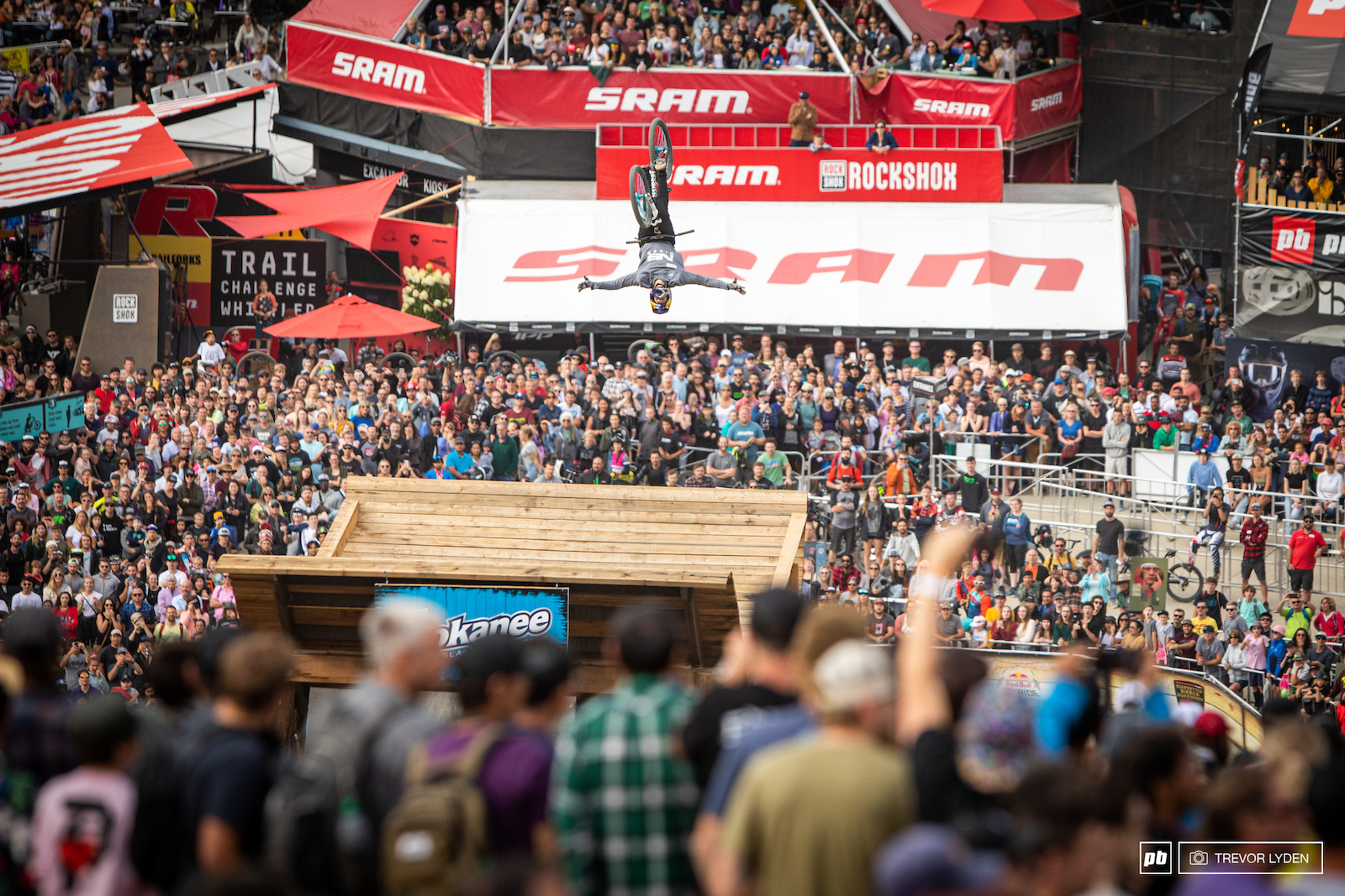 David Godziek just won an X-Games bronze medal and repeated his victory here in Whistler.