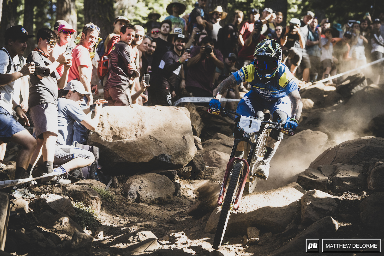 Sam Hill was on a mission on stage two taking seven seconds back from Richie Rude.