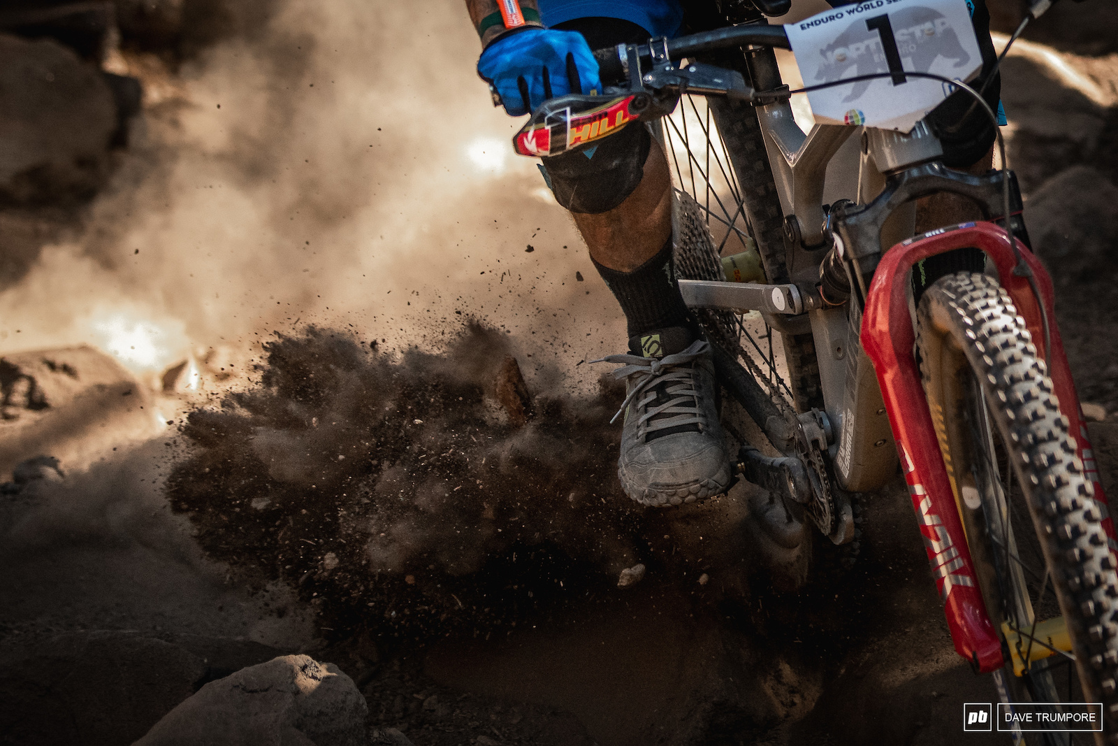 Flat pedal destruction and the reason Sam Hill has the number one plate on the front of his bike.