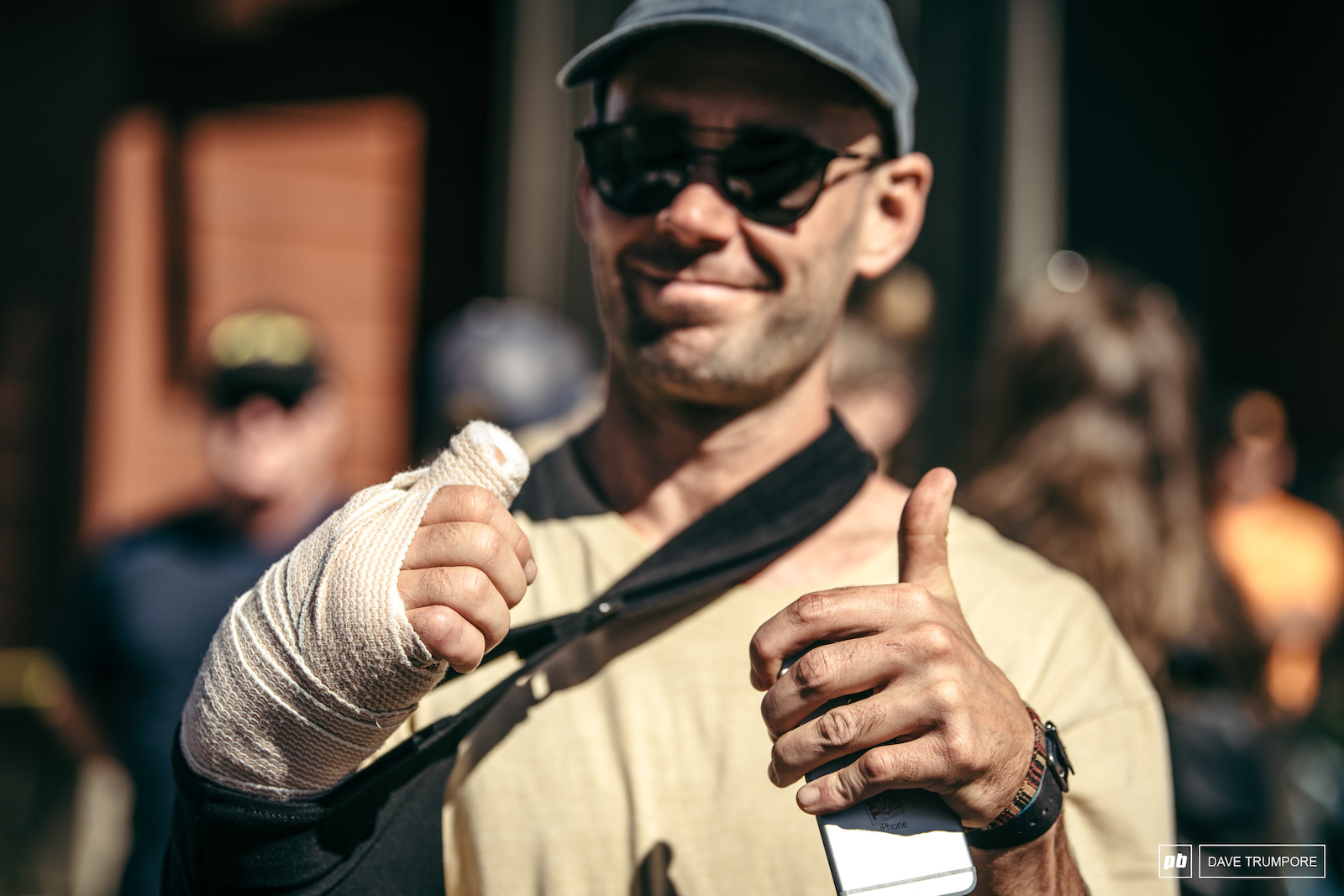 The spirit of Enduro also known as Eddie Masters was all thumbs up today despite his setback