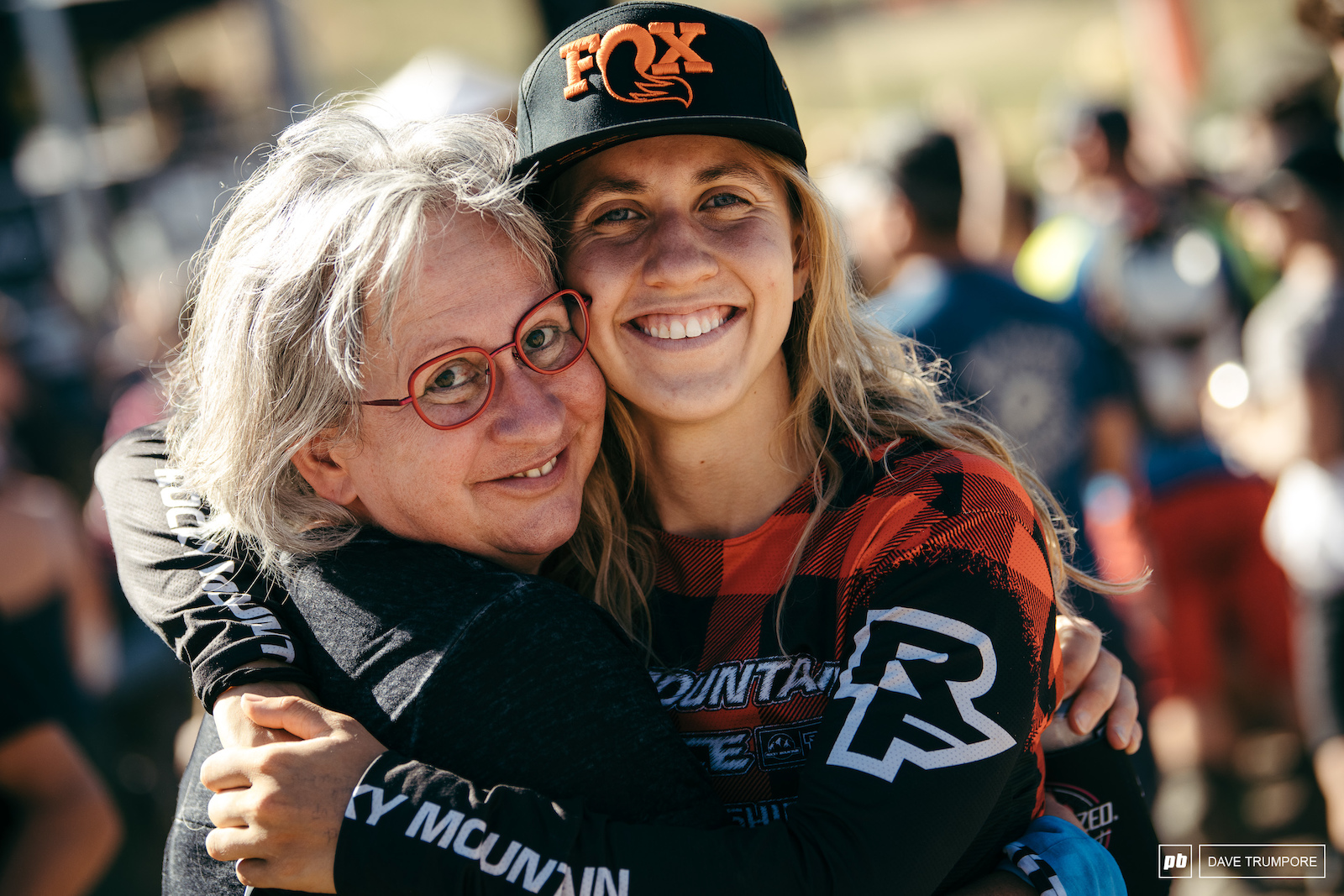 Andreane Lanthier-Nadeau celebrates with her mom after finishing 3rd on the day
