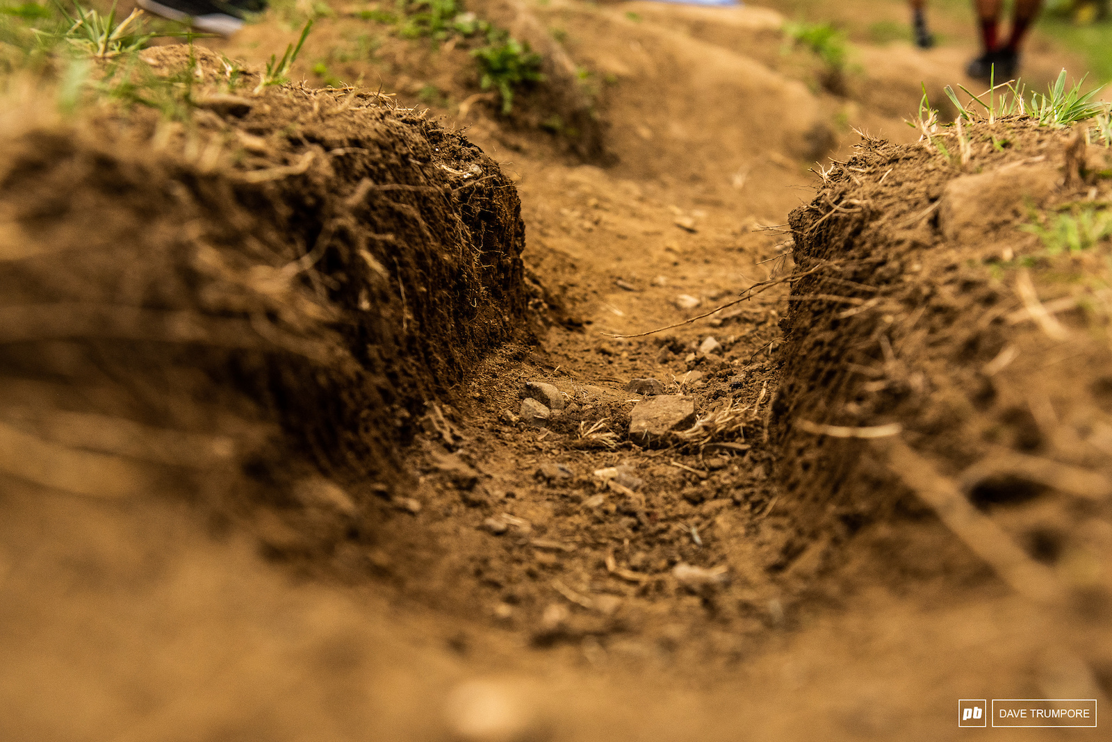 Some ruts from the previous years rainy races are still alive and well at the top of the track