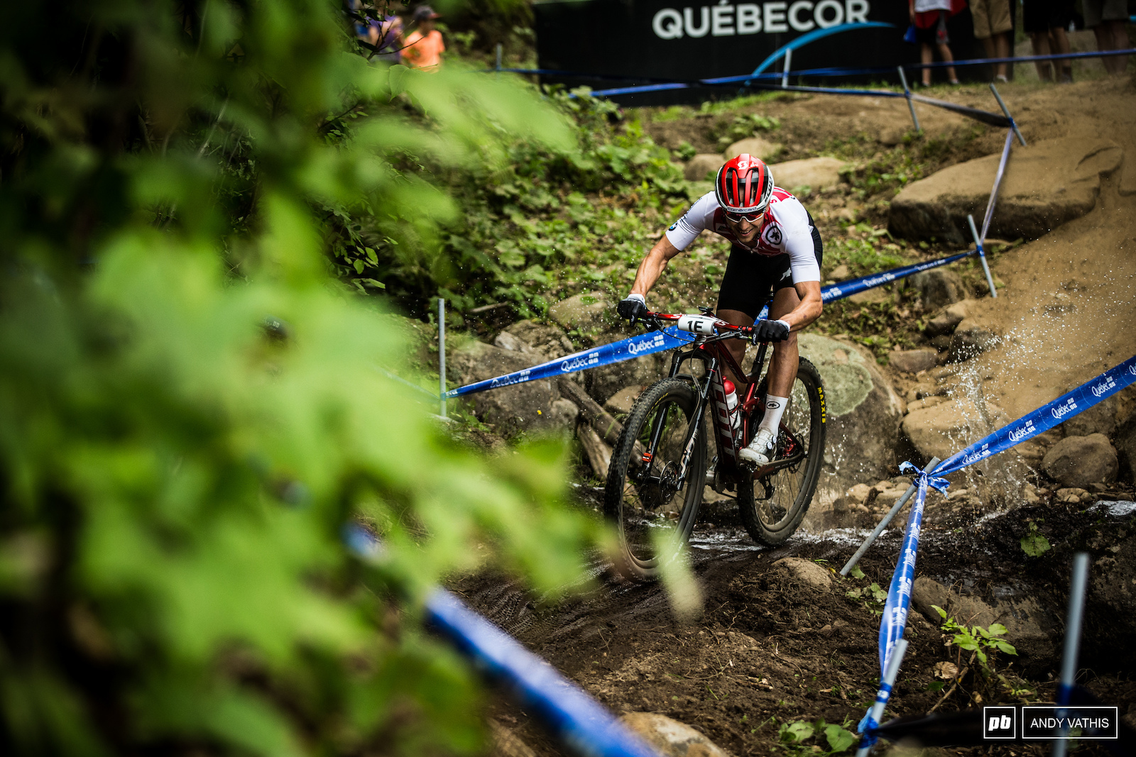 Nino Schurter making sure the Swiss take the win.