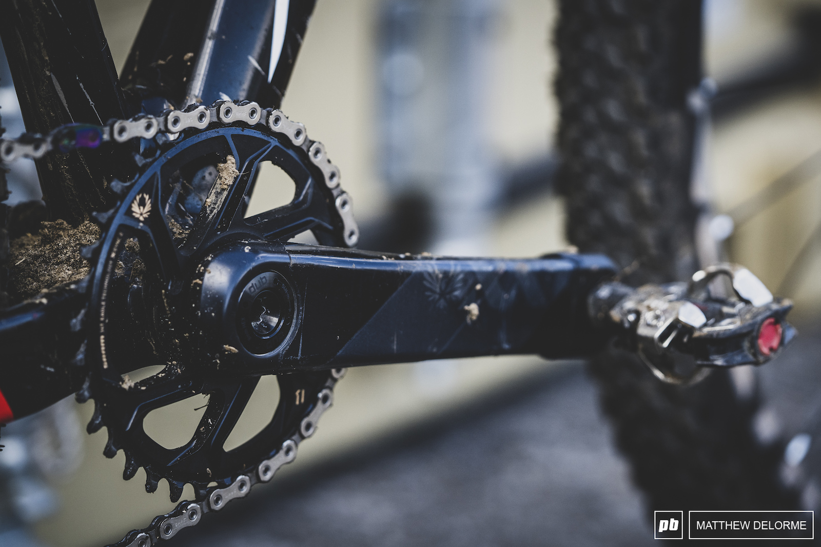 Eagle XX1 cranks keep the bike in motion.