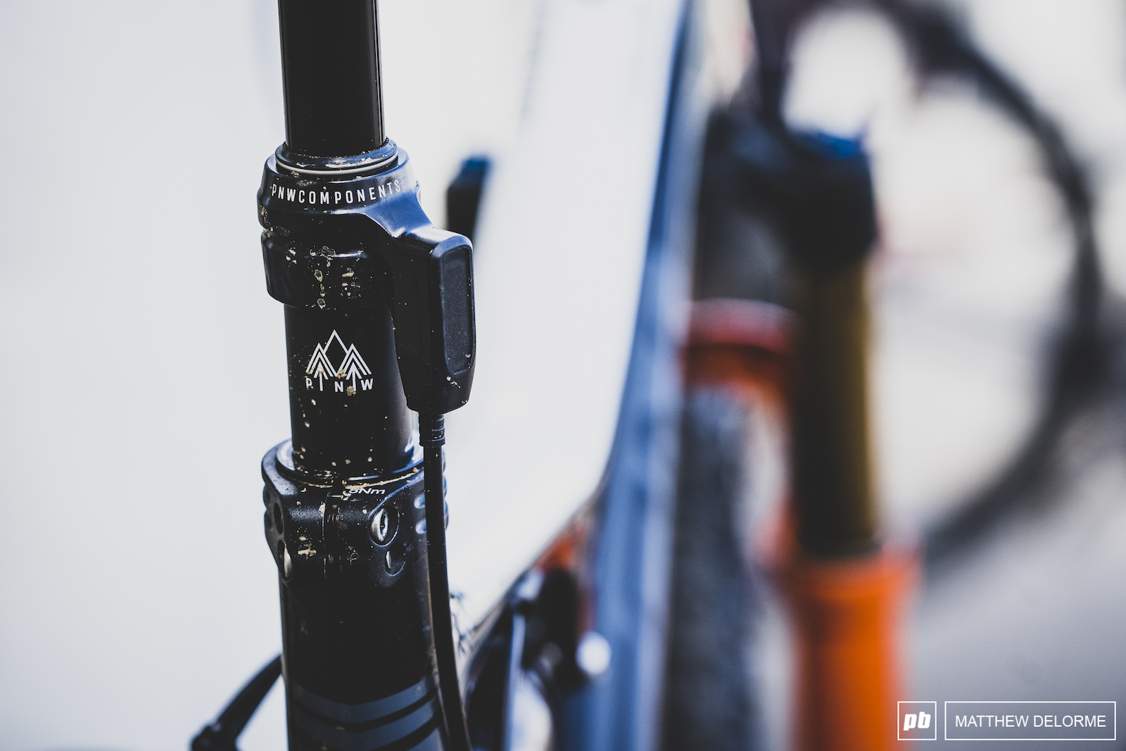 An early PNW components dropper for dealing with MSA s technical descents.
