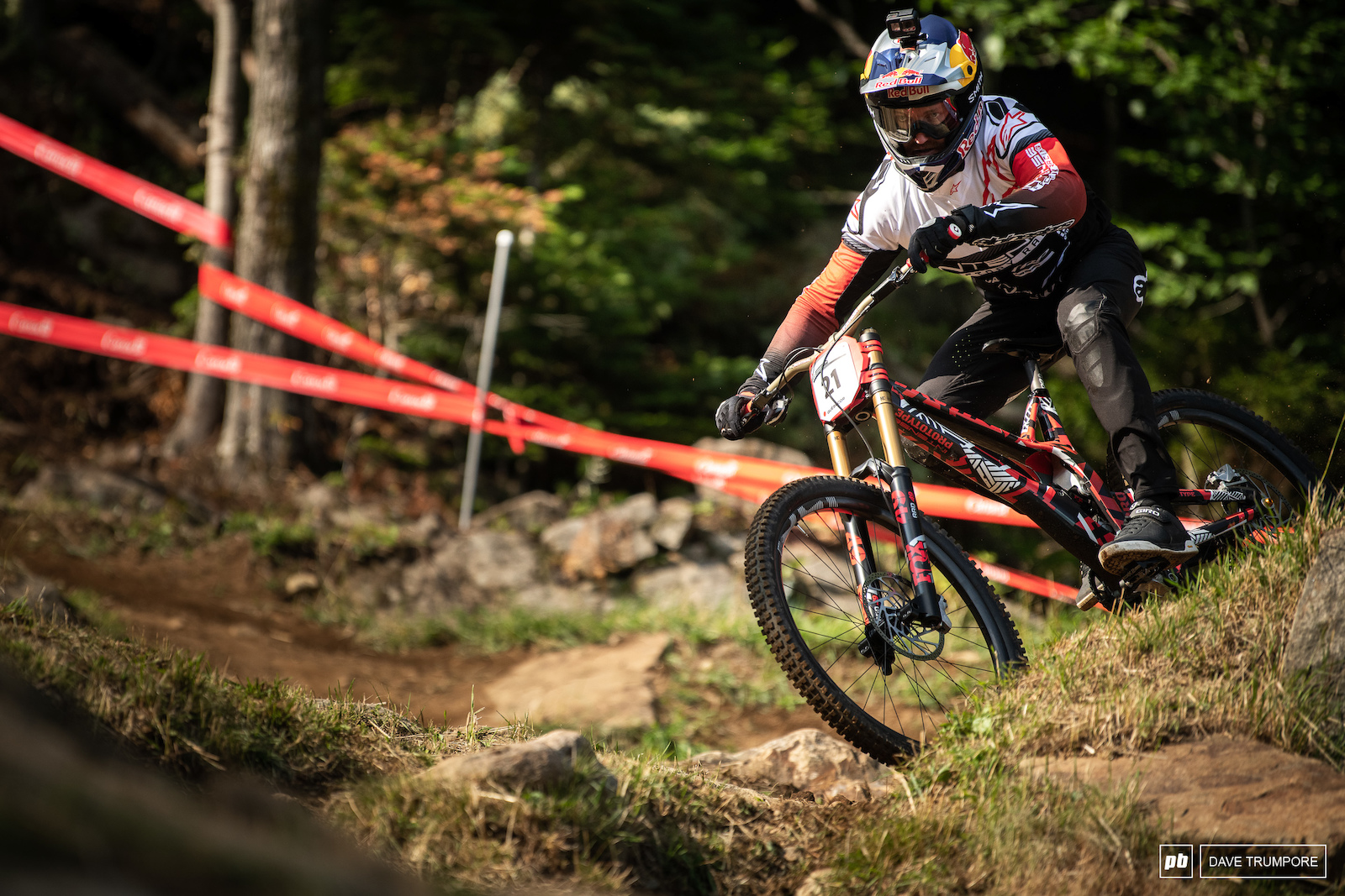 Aaron Gwin is back between the tape and on a track that has treated him well over the years