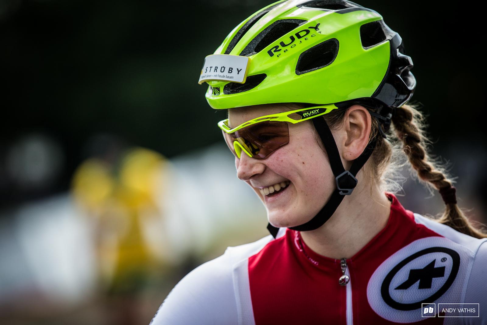 Jacqueline Schneebeli ready to take on the tough Quebec course.