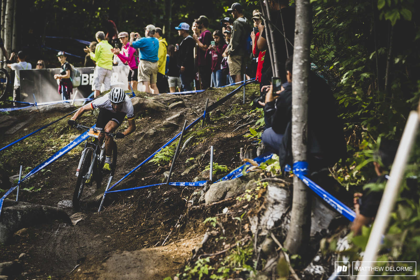 Maximilian Brandl took a brief turn out in front but would settle for fifth when the mud stopped flying.