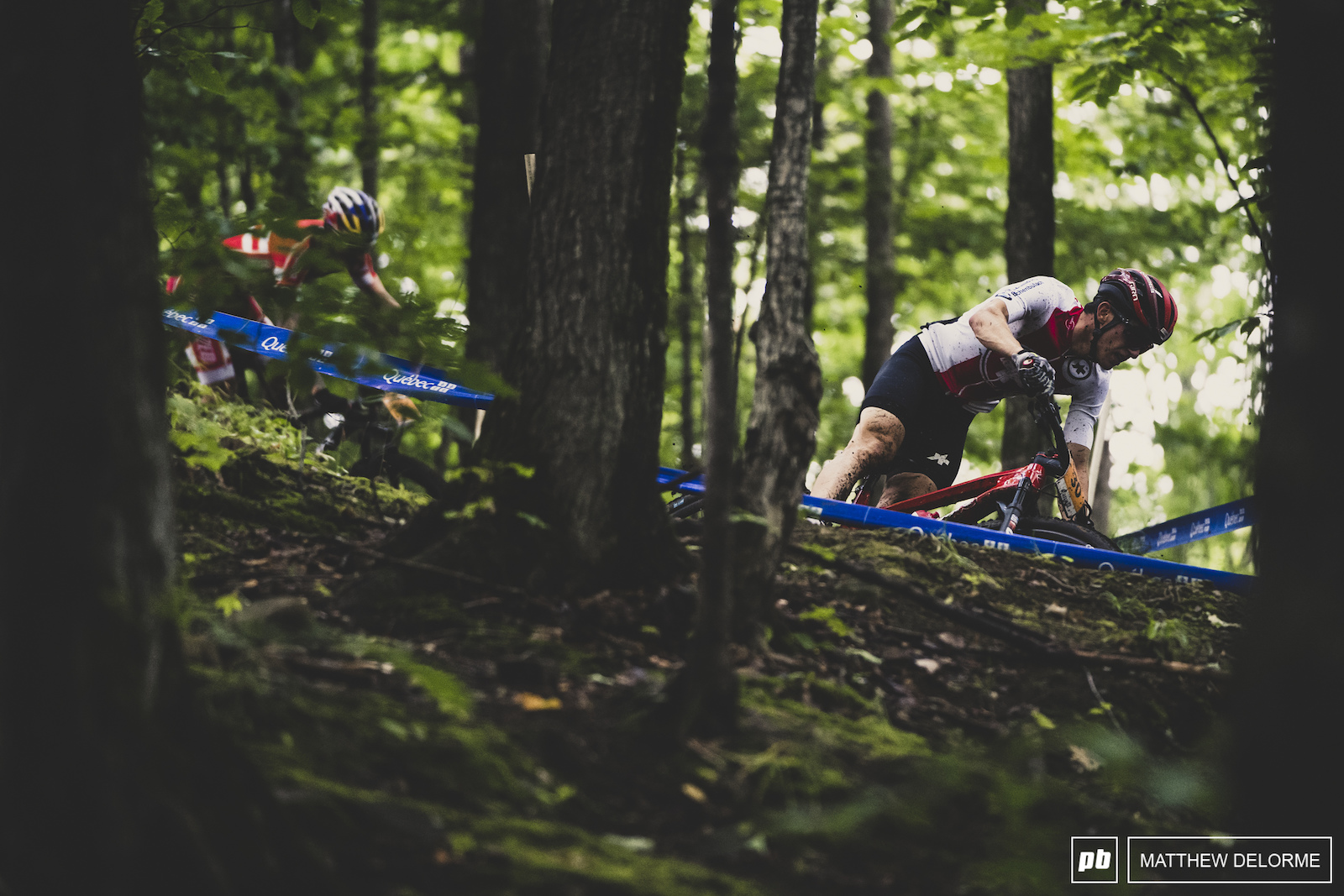 Vital Albin took third today on the slippery Mont Sainte Anne course.
