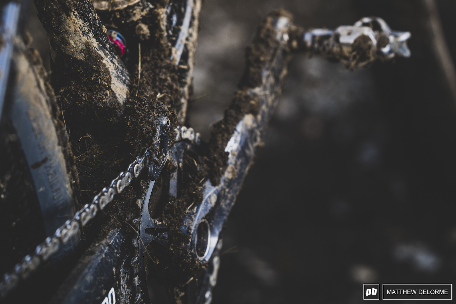 The bikes were caked with MSA dirt.