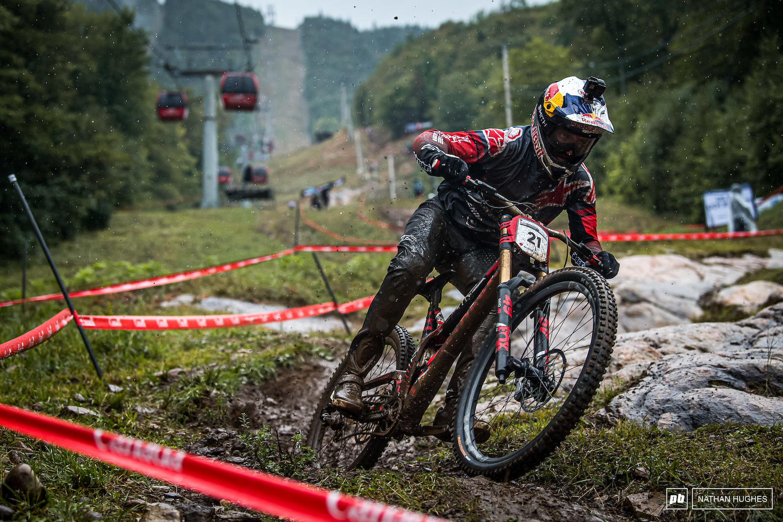 Pure nostalgia for Aaron Gwin who casually rode one of the greatest race runs in DH history in the similar conditions of 2017.