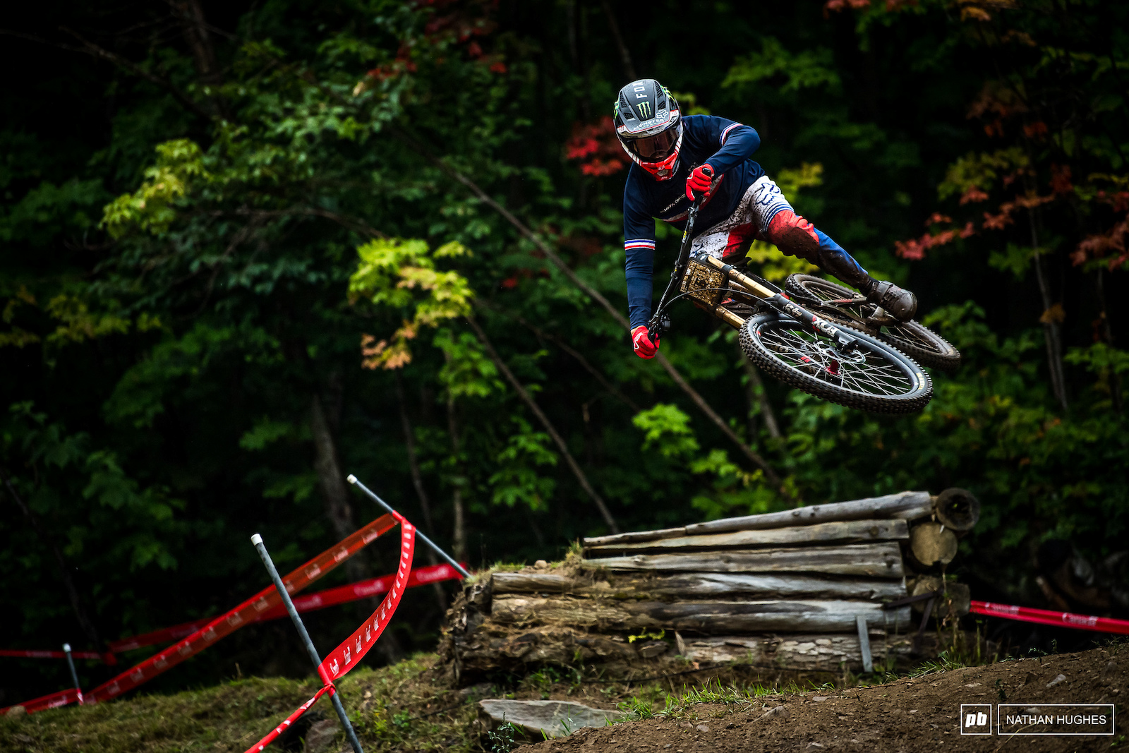 Loris Vergier maintains style even at 2nd place kind of speed.