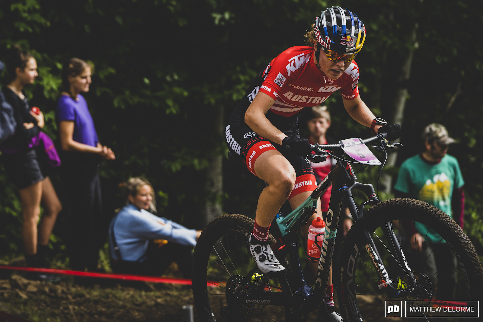 Laura Stigger took second in her best result since Albstadt.