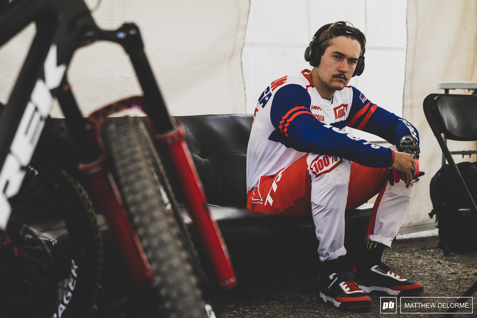 Charlie Harrison awaits the final morning practice session.
