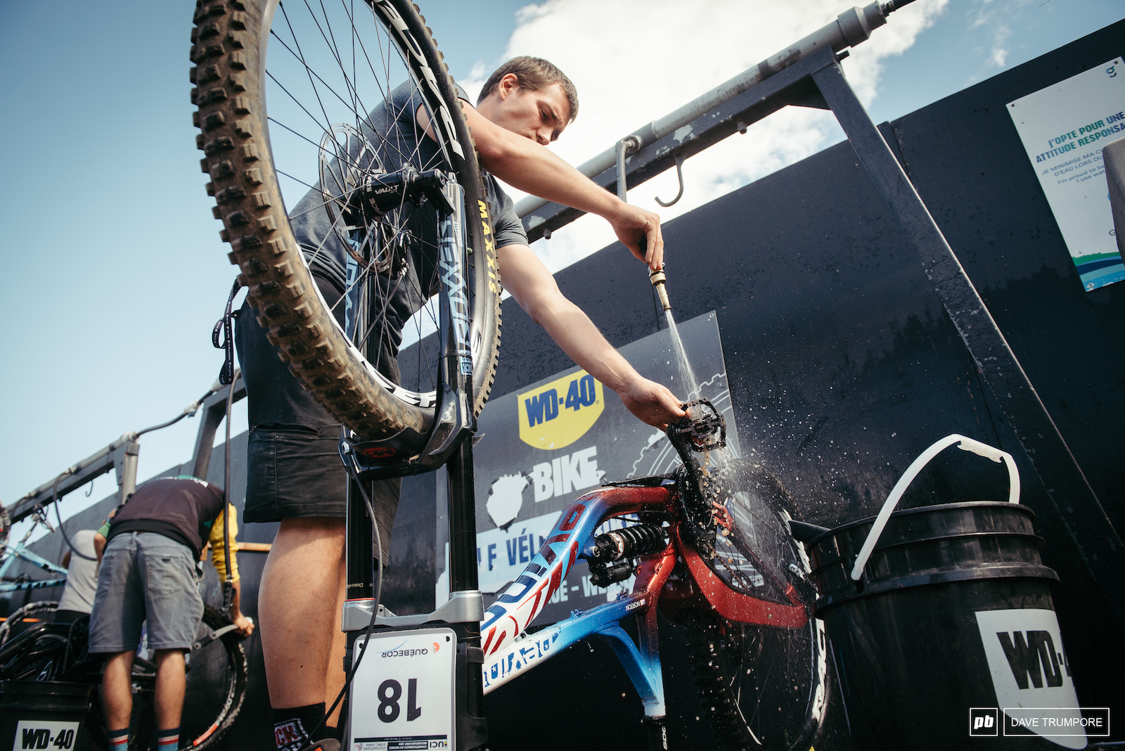 Finka bike prep and cleaning before the biggest race of the year