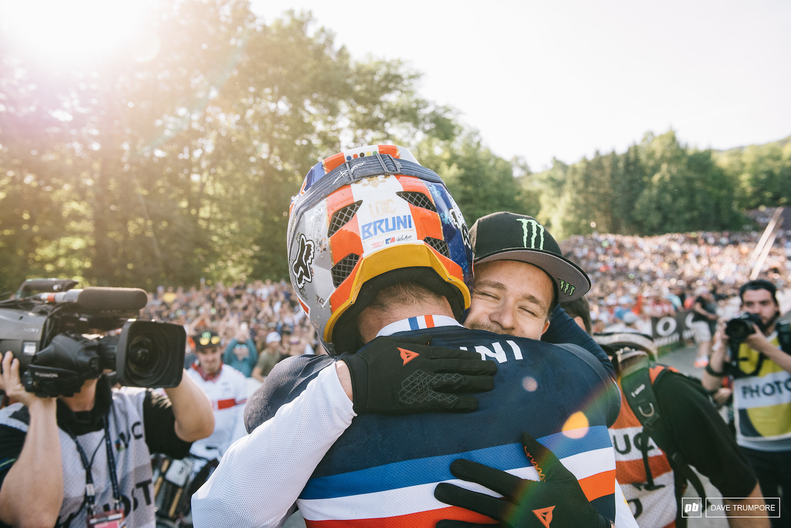 Loic Bruni and Trot Brosnan after taking gold and silver
