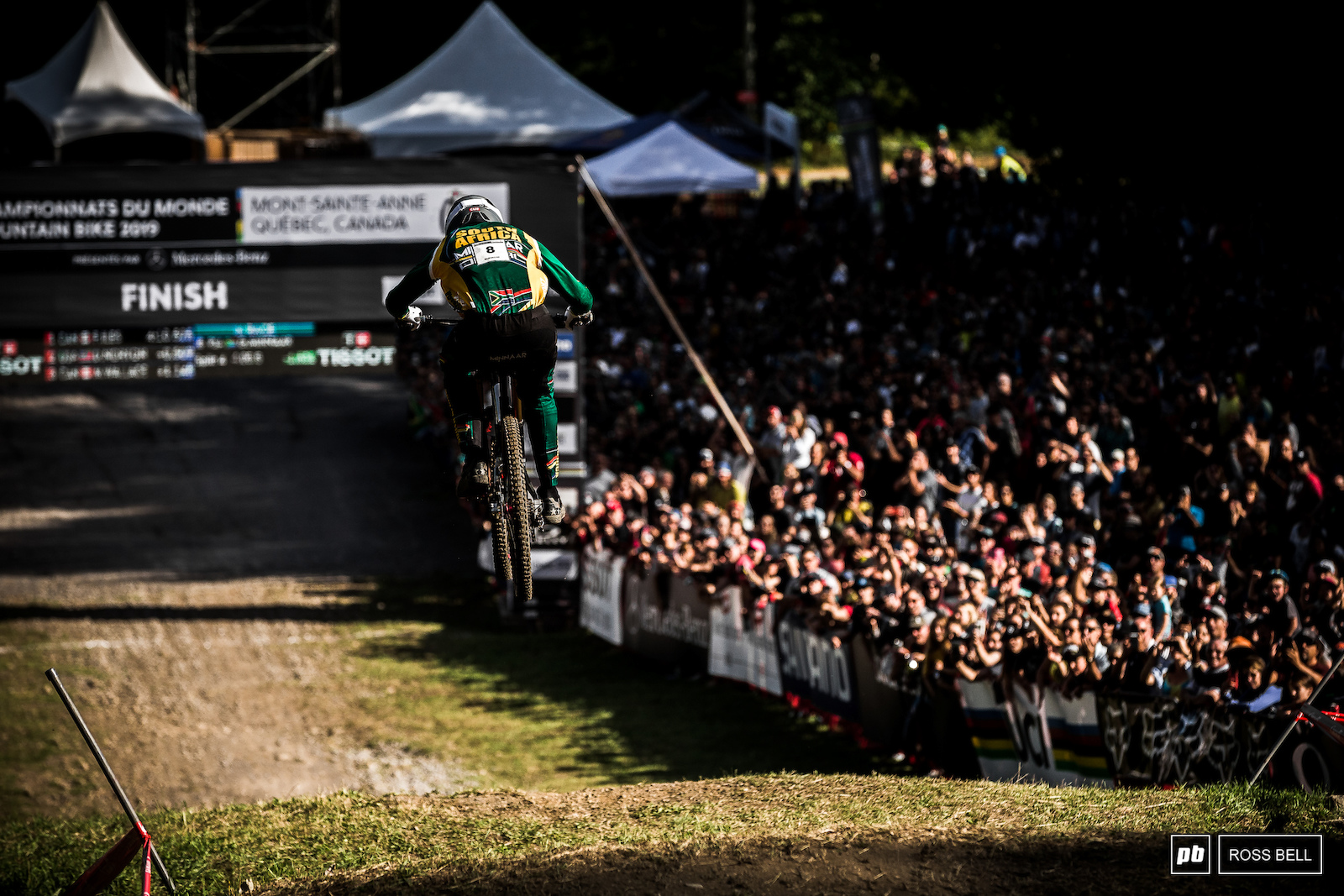 Greg Minnaar charging towards the line at World Champs with green split times how many times have we seen that before