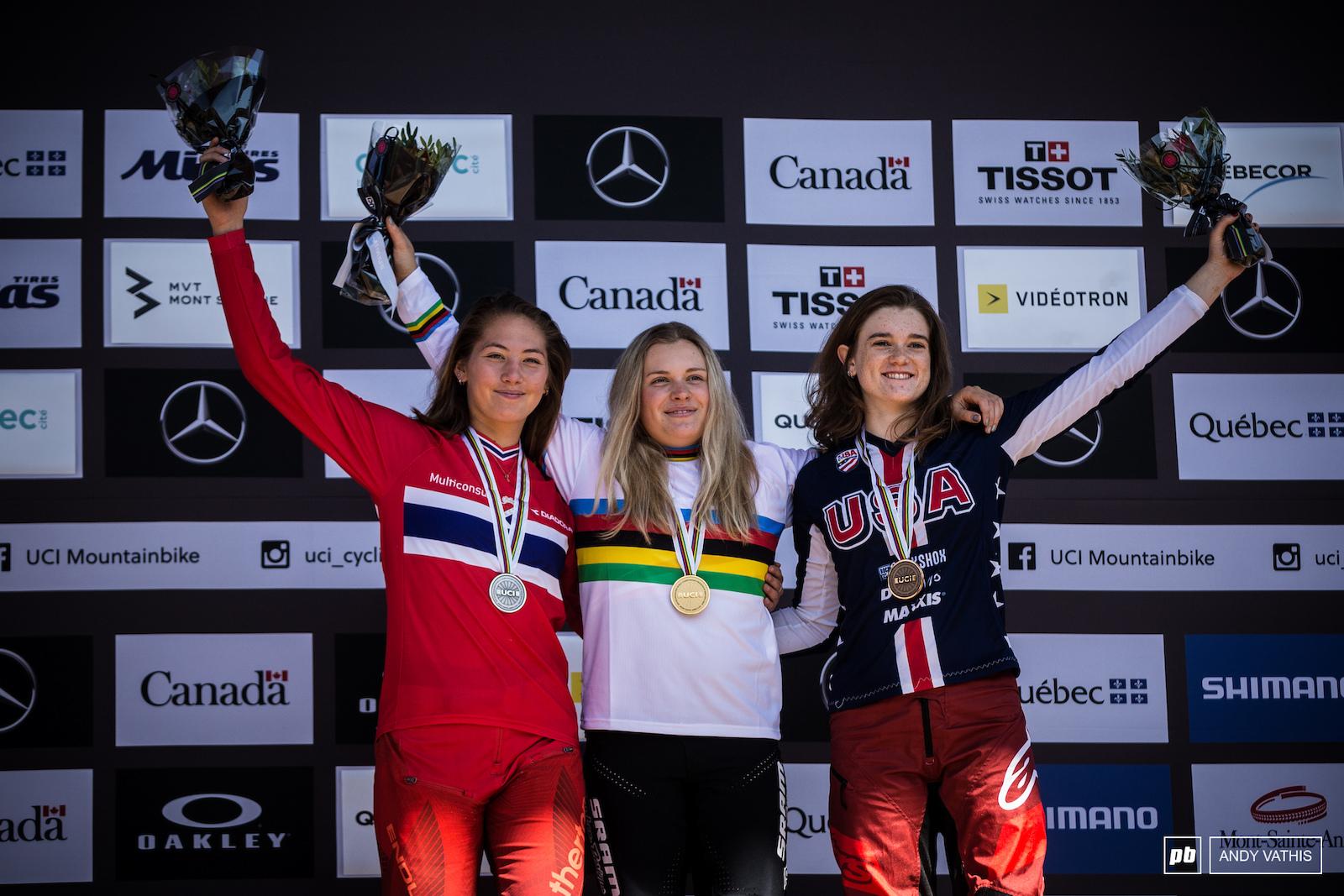Junior Women s podium.