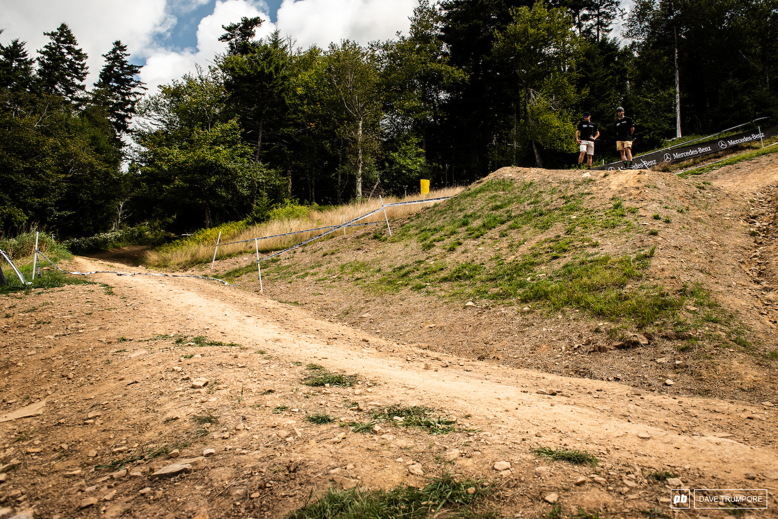 Not Small. Connor Fearon and Jackson Frew give a little scale to the big road gap up top