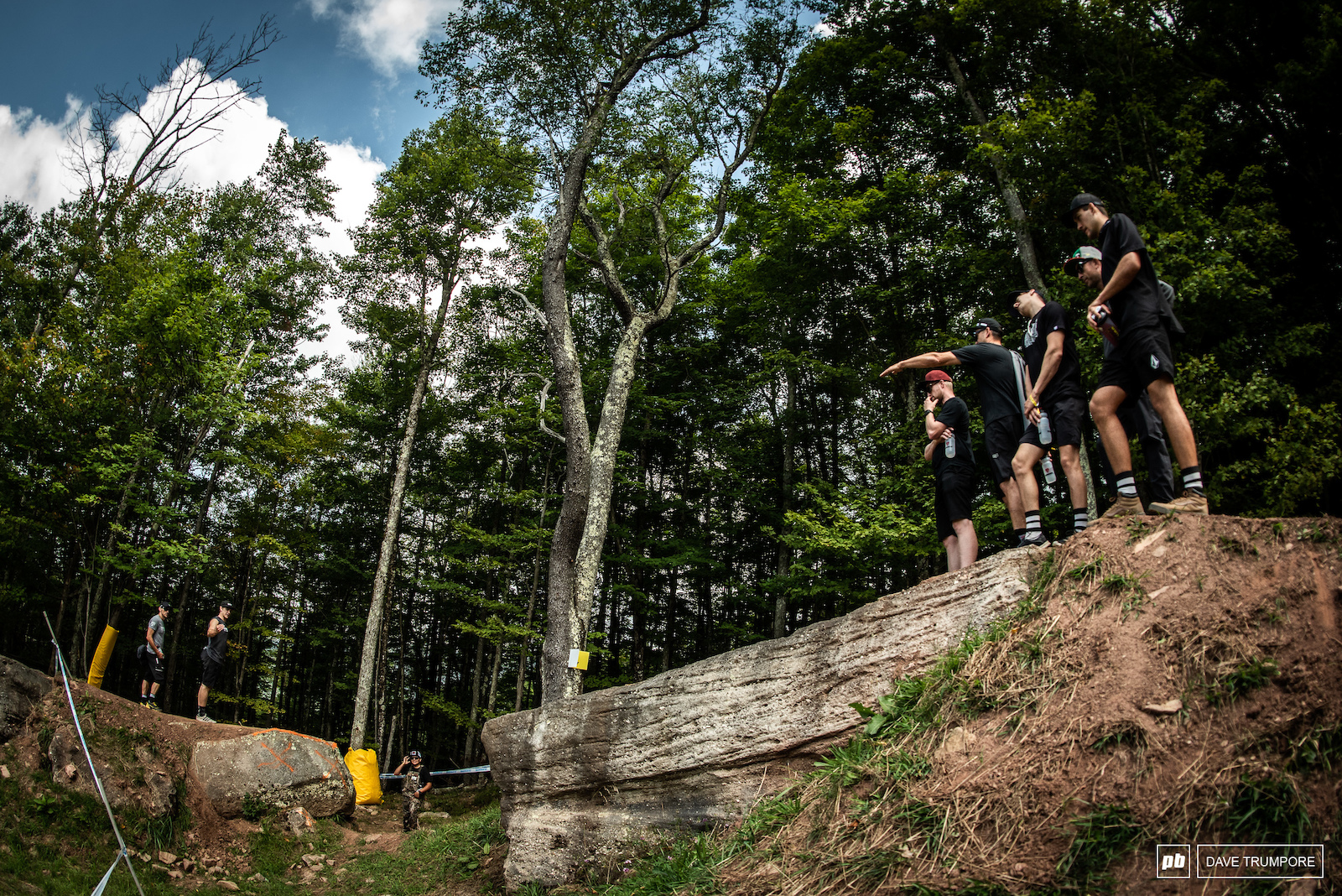 This is a massive jump but in the wise words of Kade Edwards it s fine as long as you clear the rock on the landing