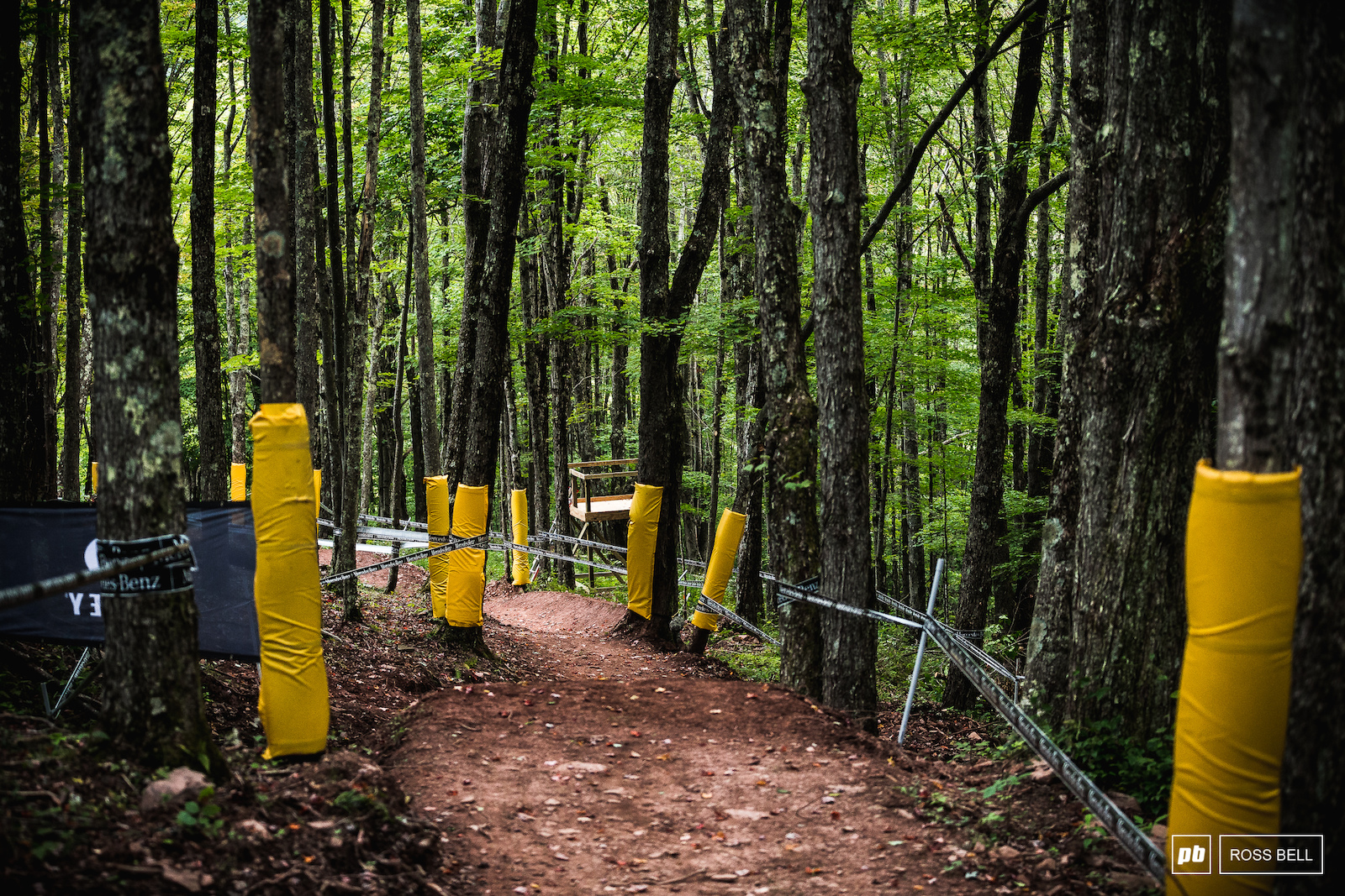 The final section of track will be a leg and lung burner as riders pump and pedal their way towards the finish line.