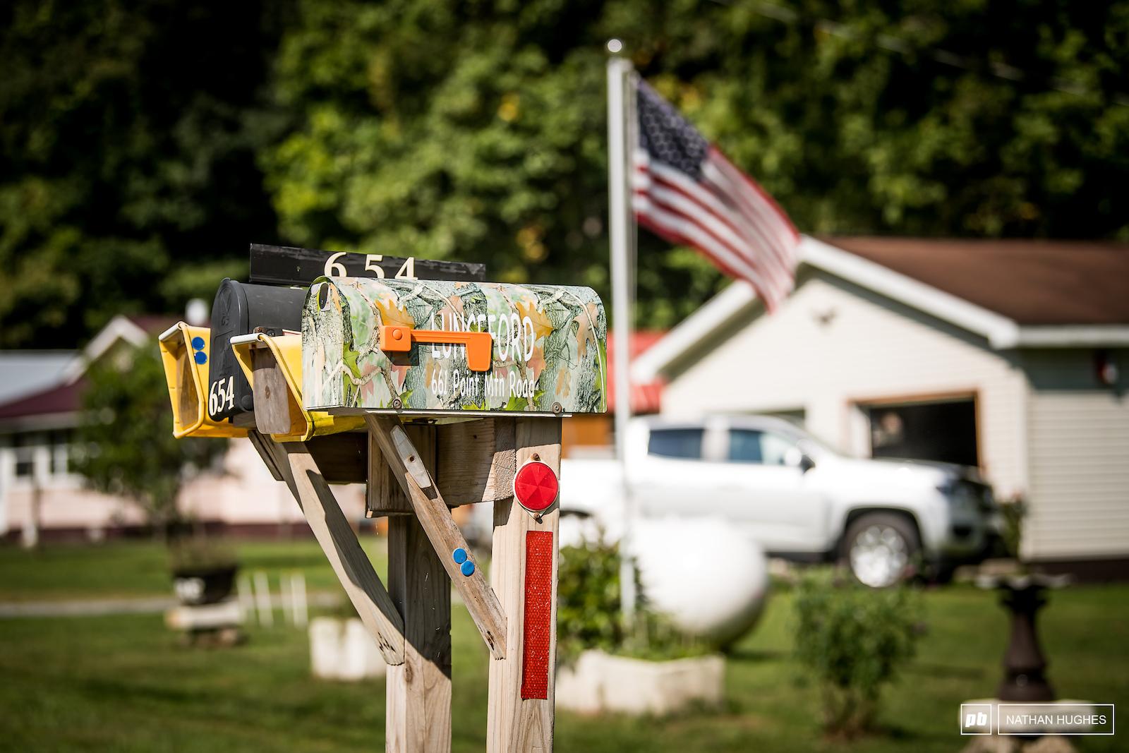 All American neighbourhood mailbox flag truck combo.
