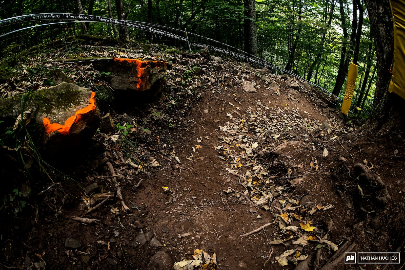 A beautifully shaped berm before things get super technical.