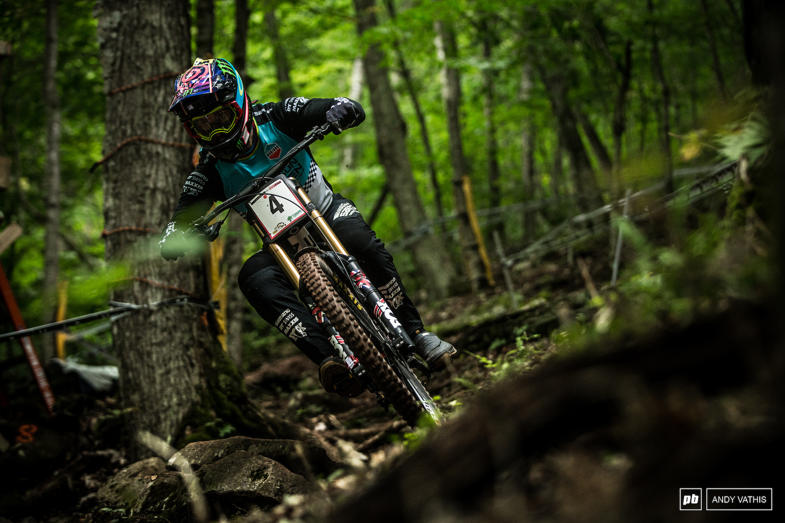 Danny Hart was skipping stones across the bottom of the course looking unbelievably fast at every turn.
