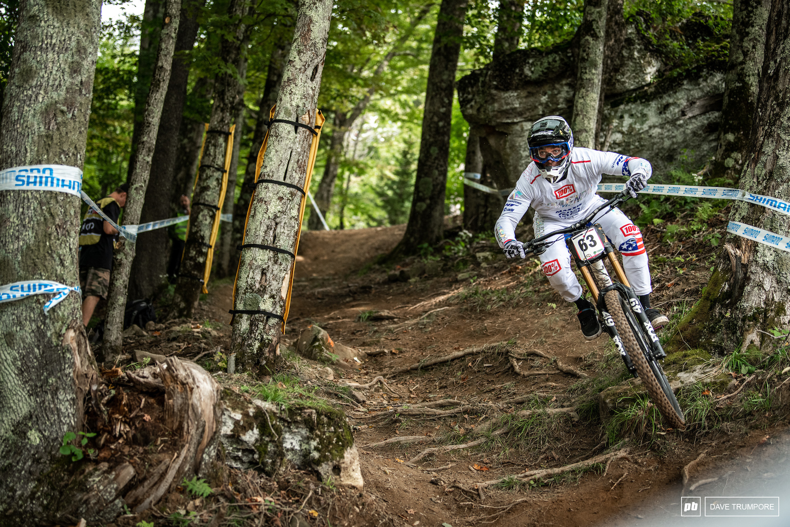 Bruce Klein is a powerhouse and was muscling his way throve the rocks and roots during training. He hasn t has the best of seasons but sure does look good so far in Snowshoe
