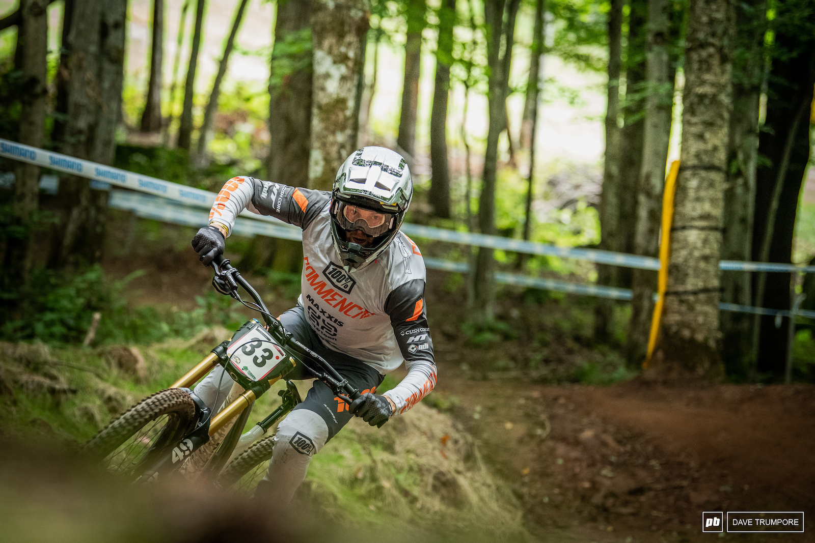 Thomas Estaque loves wet and muddy tracks so it is no surprise to see him up to place in the slick woods