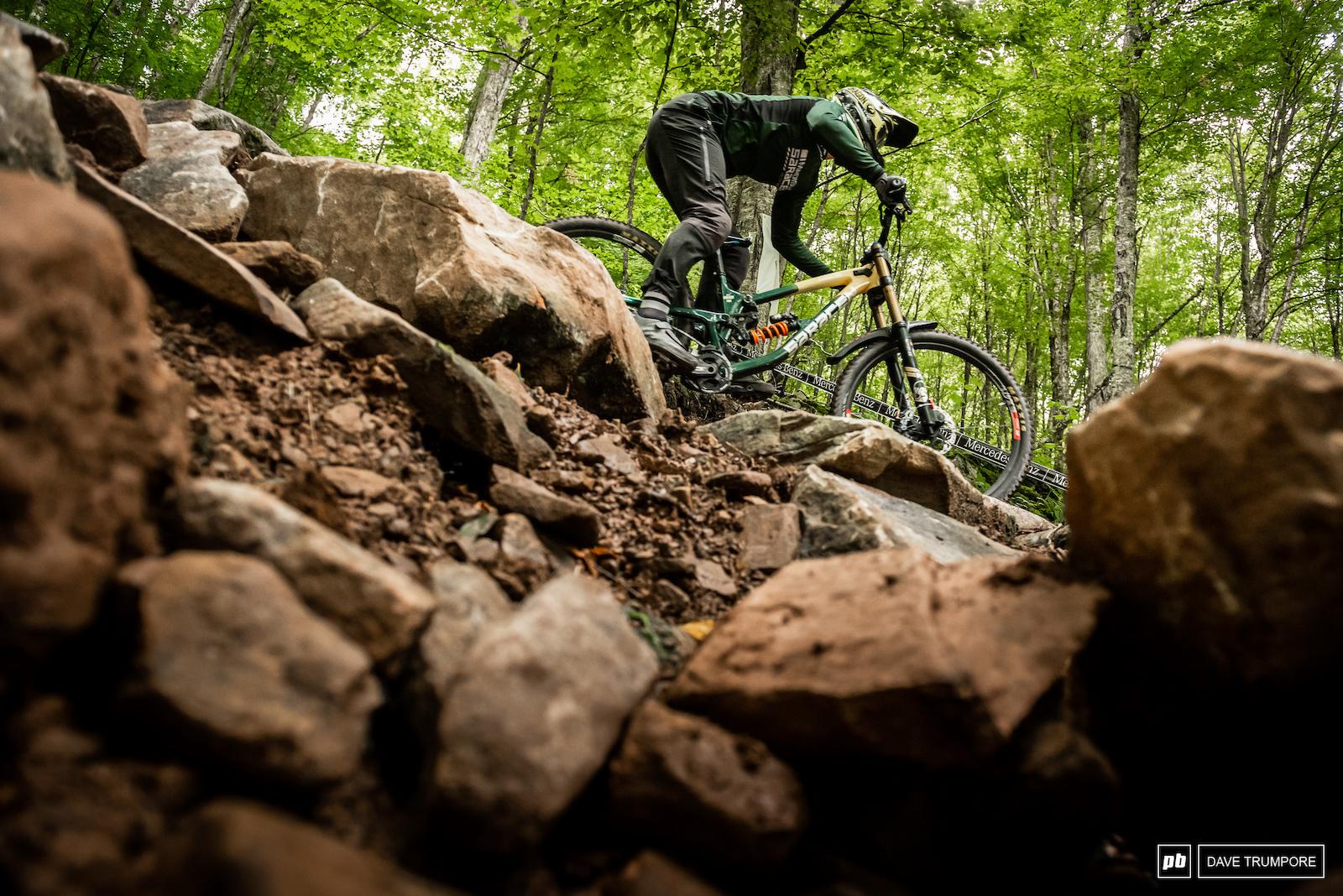 Matt Walker flaming through the boulders