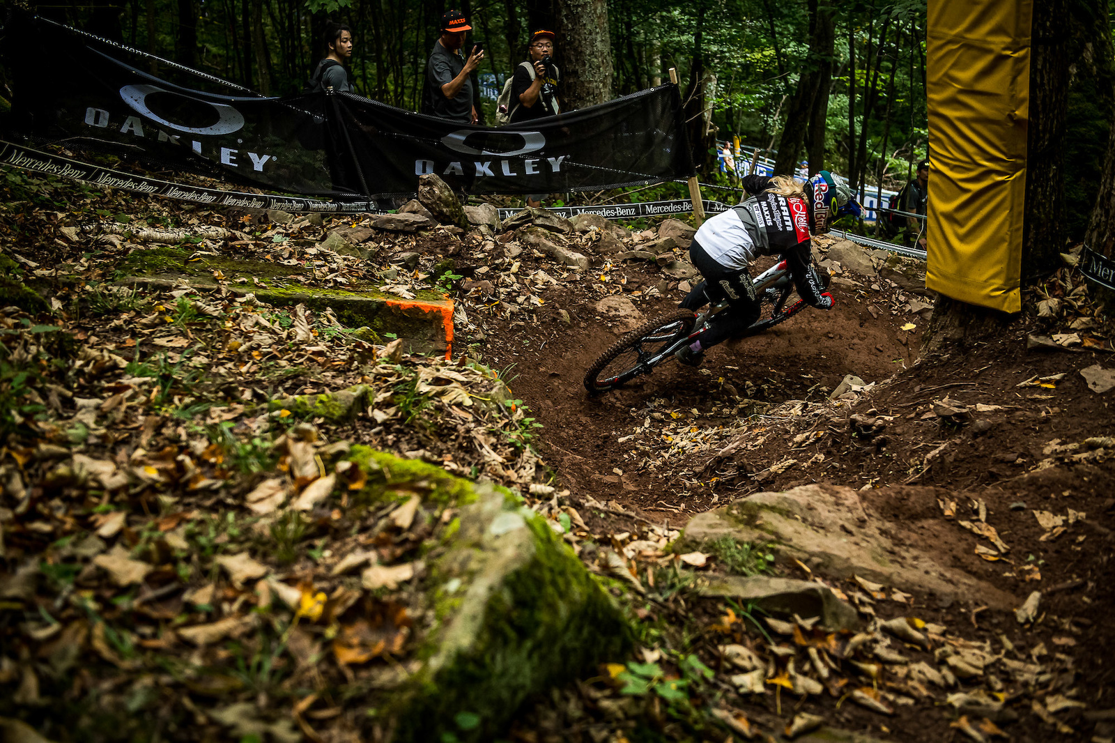 Vali Holl out for a rip during the timed training session.