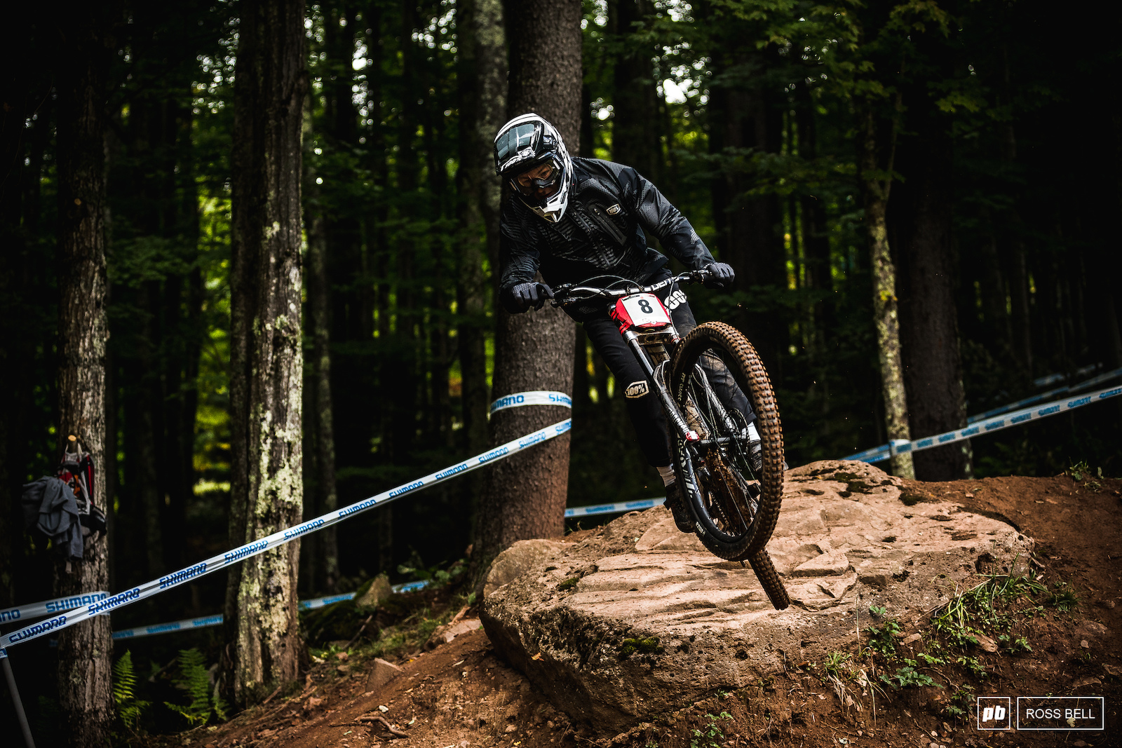 Janosch Klaus got his first podium in Lenzerheide and clearly wants more. He came down into 2nd place just 1 second back on Kye A Hern.