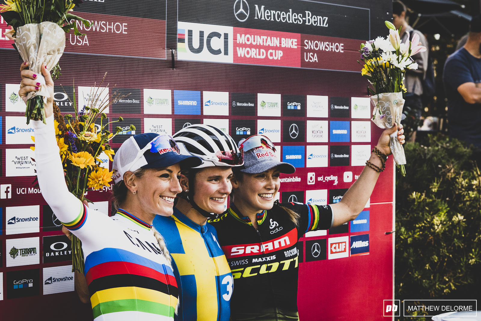 Rissveds Courtney and Prevot. Short Track winners.