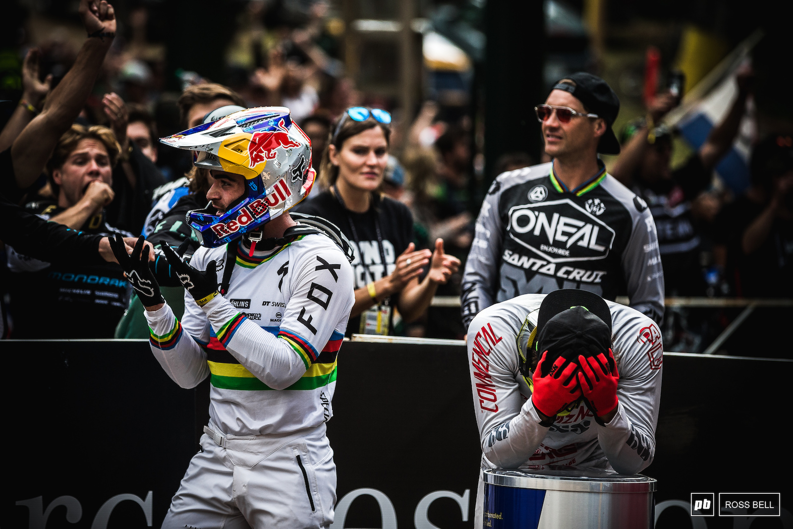 The moment it was all decided. Danny Hart crosses the line and punts Amaury Pierron out of the hot seat meaning Loic Bruni wins the title. You couldn t make it up.