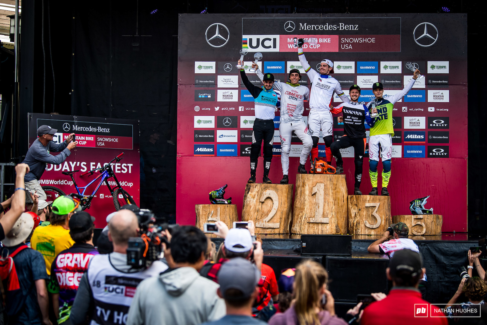 Th 2019 overall DH heroes Bruni Pierron Brosnan Hart and Vergier.