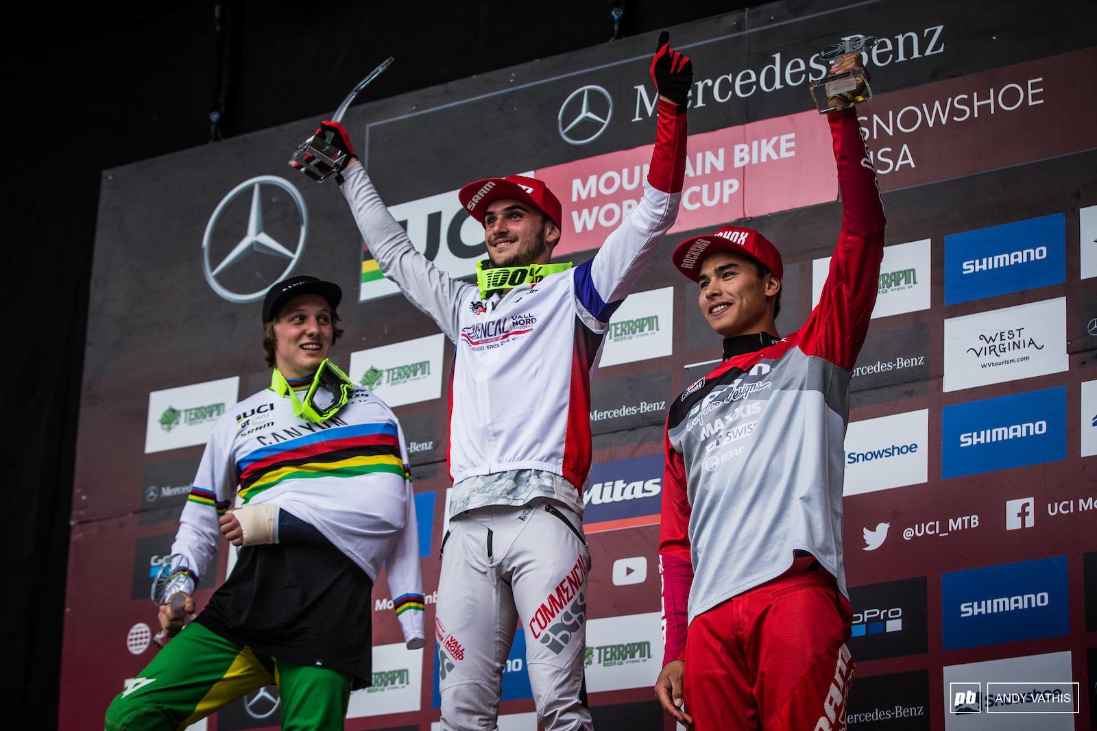 Your junior men s overall podium. Daprela A Hern and Cruz.