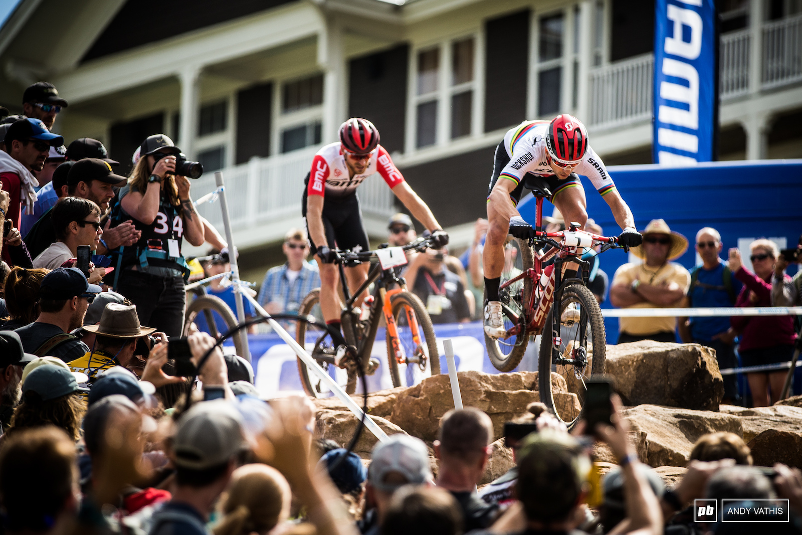 Schurter in the thick of it with the usual rivals.