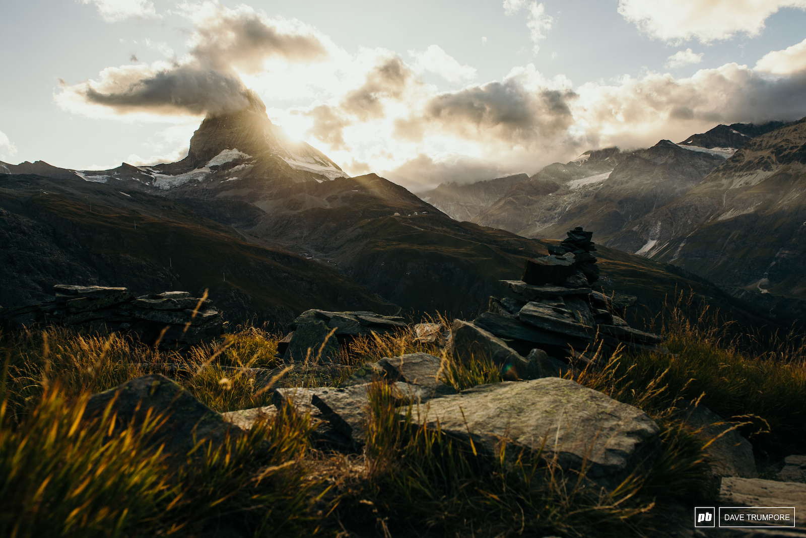 The finals sunset over the Matterhorn before practice gets underway tomorrow for the final round of the 2019 Enduro World Series