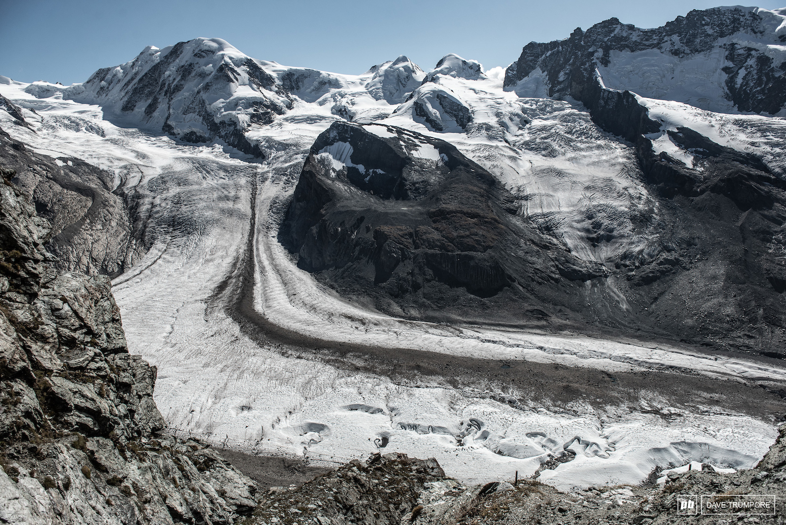 The rugged glacier that sits just above stage 4