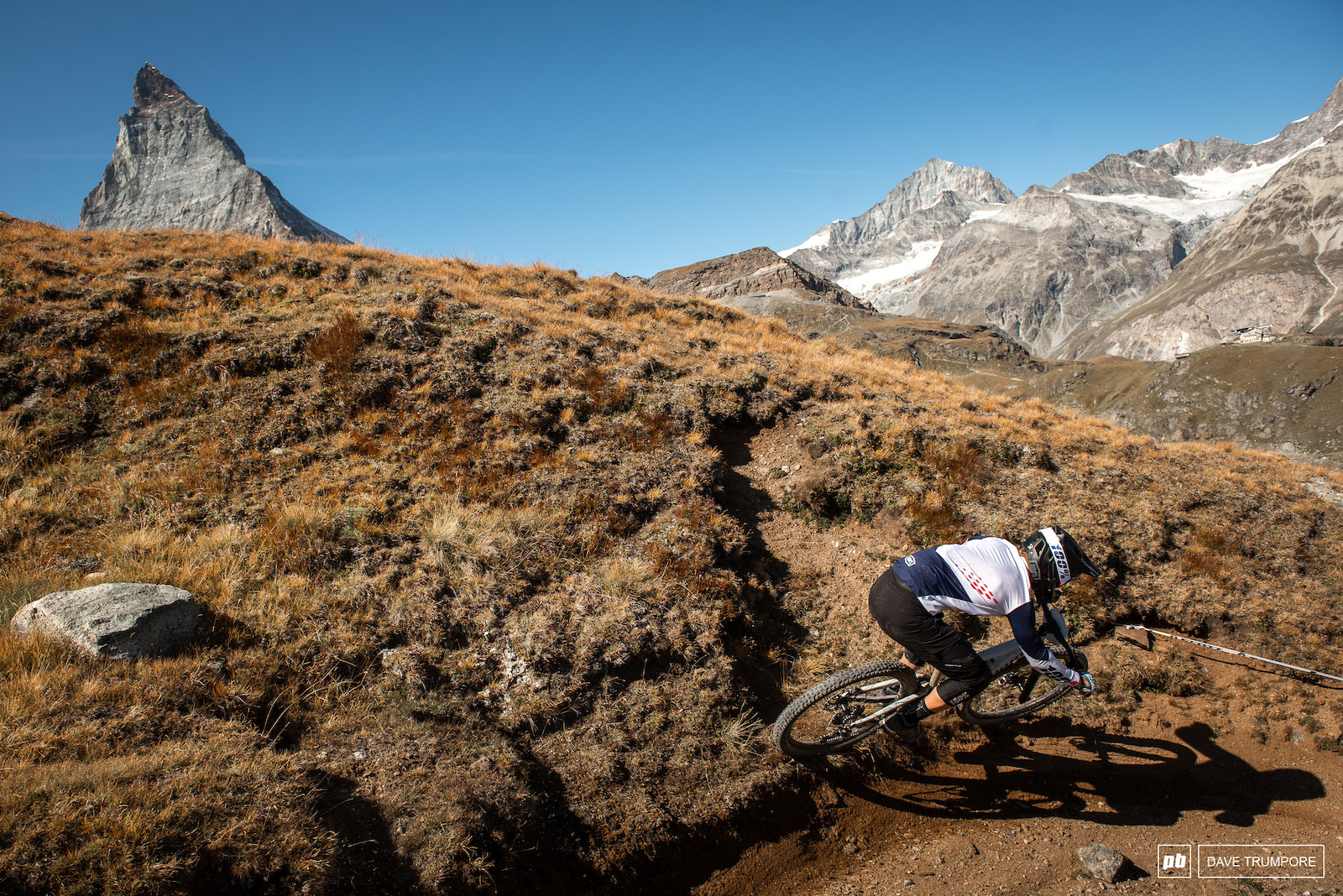 Spencer Rathcamp taking the high line as the Matterhorn keeps watching the distance