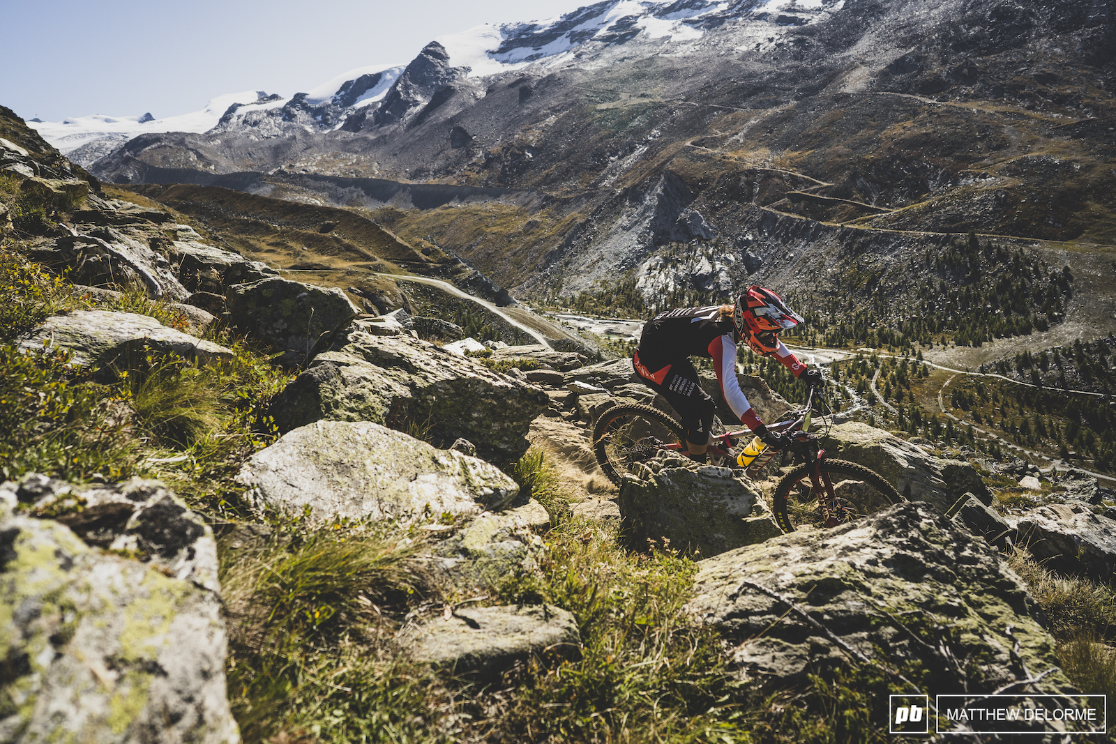 Ines Thoma on her way to fourth place here in Zermatt.