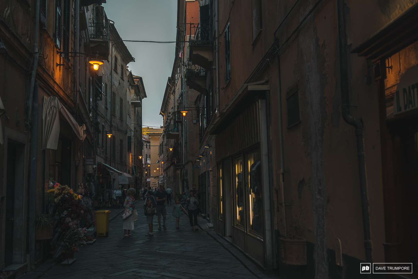 The charming street of Finale